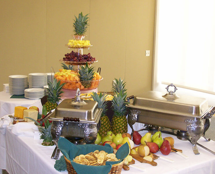 Thanksgiving themed catered brunch